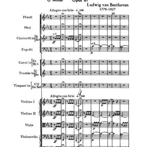 Beethoven Sym 5 3rd & 4th Movements