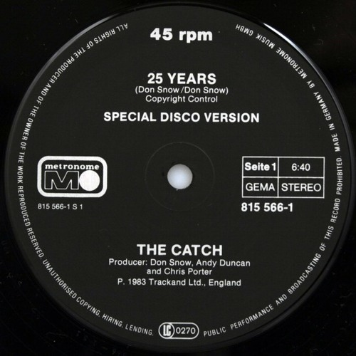 The Catch - 25 Years (Young Edits Catchy Re-Rub)
