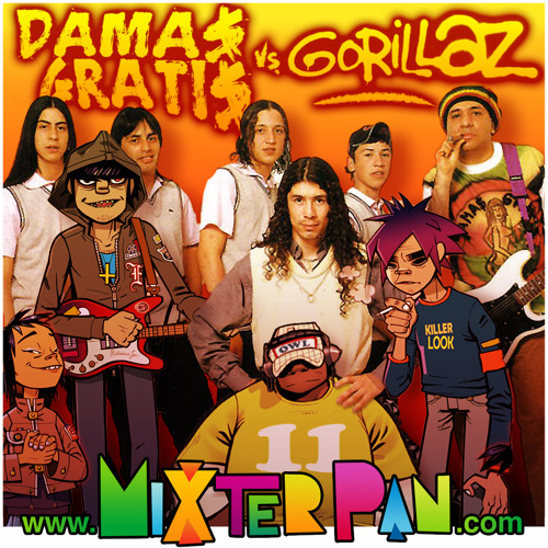 Gorillaz vs Damas Gratis (mixter pan cumbiastyle mash up) FREE DL