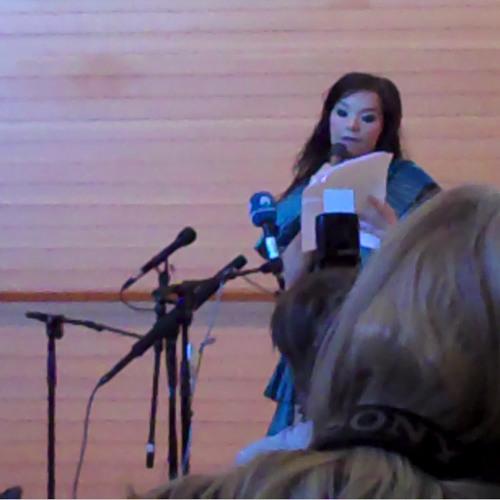 Björk & Jónas Sen at Nordic House Press Conference