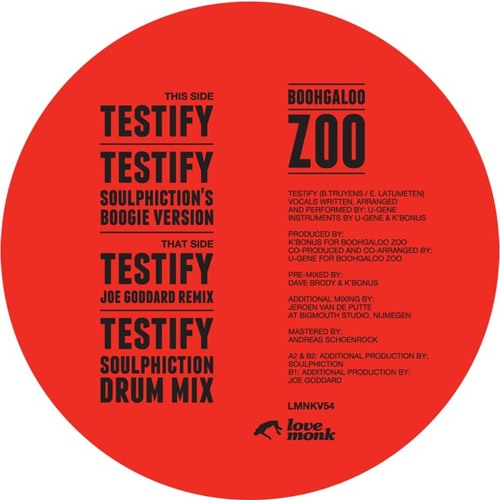Boohgaloo Zoo - Testify (Soulphiction Drum Mix)