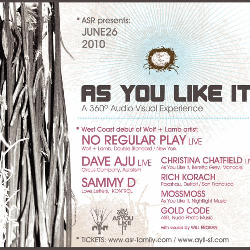 No Regular Play LIVE at ayli 06-26-2010