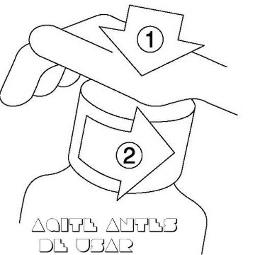 AGITE ANTES DE USAR - by Laka