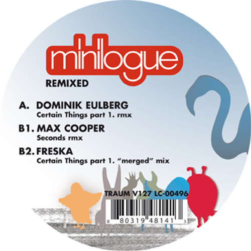 Minilogue - Seconds - Max Cooper Remix - Out Now on Traum