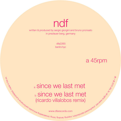 NDF-Since We Last Met