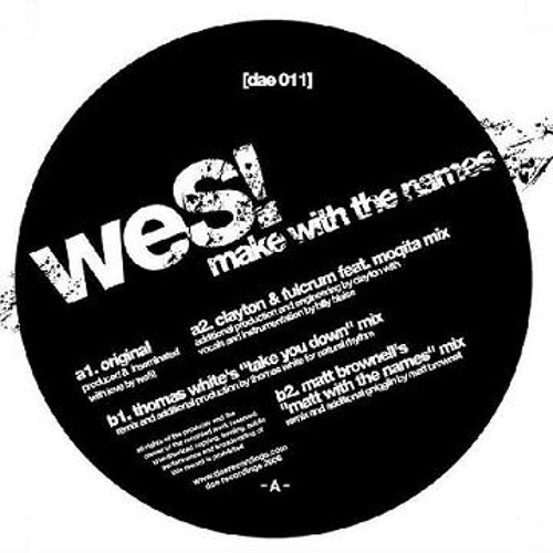 Wes! - Make With The Names (C&F ft Moqita Rmx)