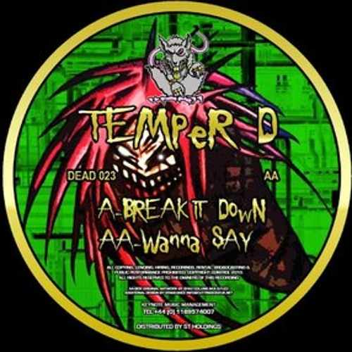 Temper D - Wanna Say (Deadly Records, vinyl only)
