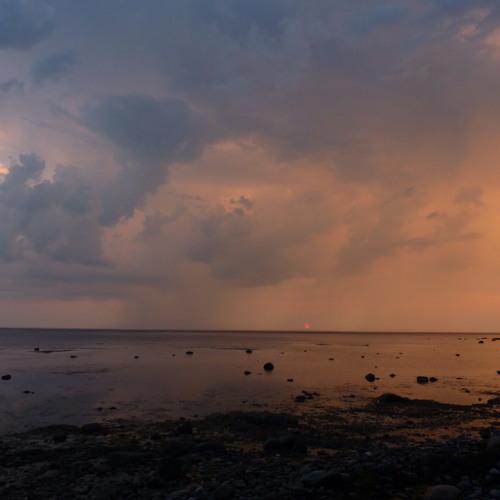 Baltic sea thunderstorm