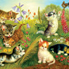 Happy Prancing Cats in the Meadow | Music for cats