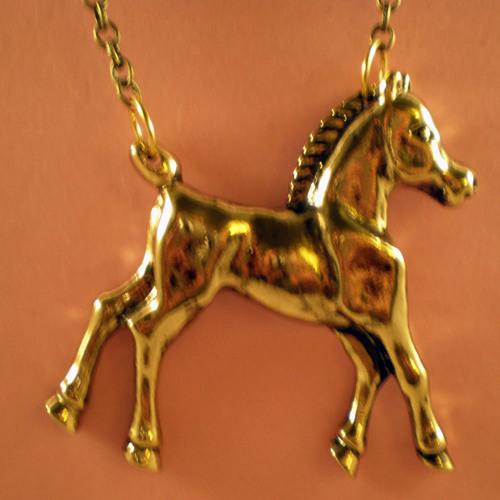 Girl in golden horse