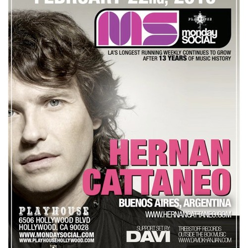 DAVI & Hernan Cattaneo - Live @ MNS (Playhouse) Los Angeles  02/22/2010