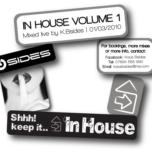 In House Volume 1 Mixed By K.Bsides (Re Uploaded)