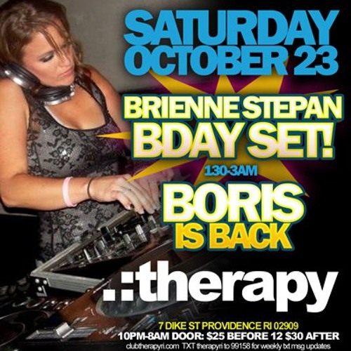 Brienne Stepan live from *BORIS IS BACK!* party at Therapy (After Hours) - Oct 23, 2010