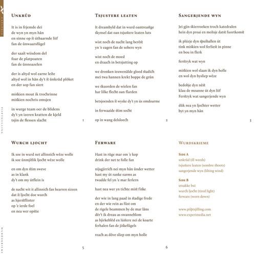 Piiptsjilling - Wurdskrieme (album preview)