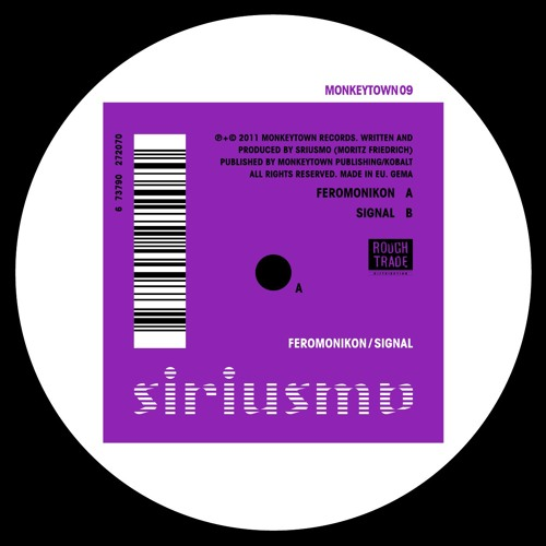"Siriusmo ""Feromonikon"" (MONKEYTOWN09) to be released January 14"