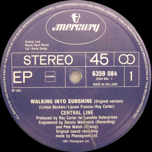 Central Line - Walking Into Sunshine (DJ Sensus Sunshine Edit)