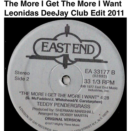 Teddy Pendergrass - The More I Get The More I Want ( Leon DeeJay Club Edit 2011)