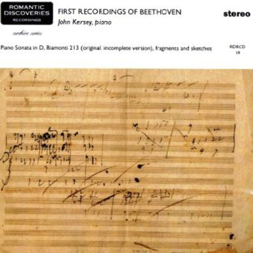 Beethoven Sonata in D B213 movt 1
