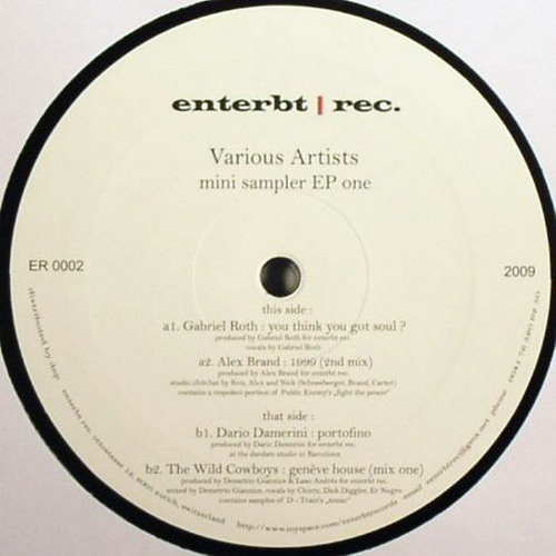 ER 0002 - Various Artists - mini sampler EP one (Snippets)