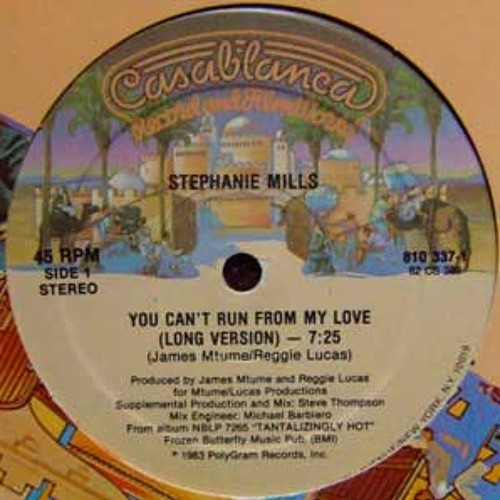 Stephanie Mills - You can't run from love - MH'S  Boogie edit