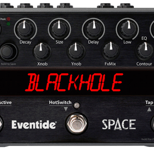 Moog Voyager thru Eventide Space reverb pedal