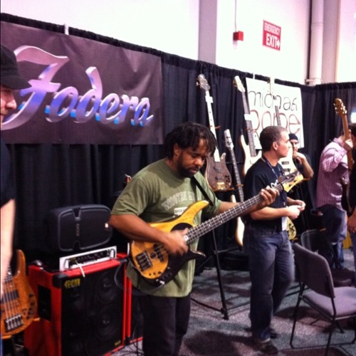 Victor Wooten NAMM at Namm Show 2011 - Anahiem Convention Center on Sunday morning