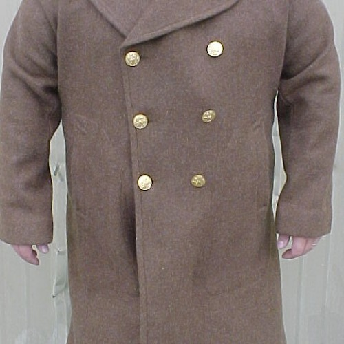 I want to see you in my long brown overcoat