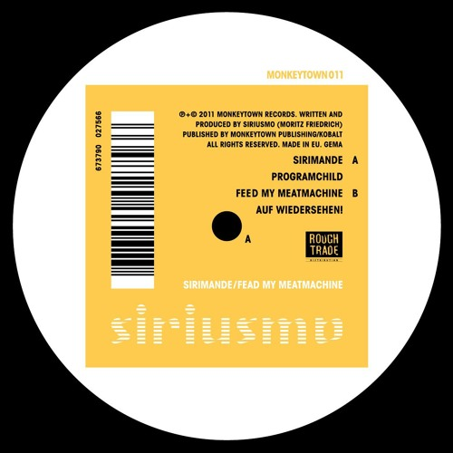 """Siriusmo """"Programchild"""" from """"Sirimande / Feed My Meatmachine"""" out March 25"""