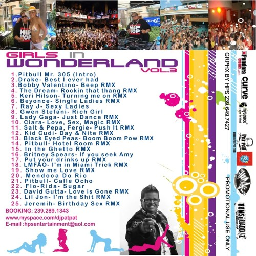 Dj Pat Pat Girls in Wonderland Vol. 3 June 2009