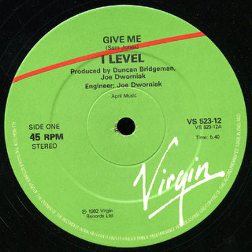 I Level - Give me (12'' Inch)