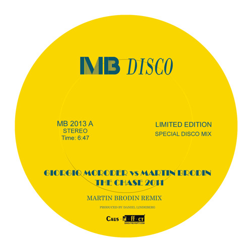 Giorgio Moroder VS Martin Brodin-The Chase 2011 (Martin Brodin Remix)