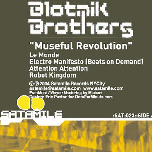 """Robot Kingdom"" by Blotnik Brothers, Satamile Rec. Vinyl"