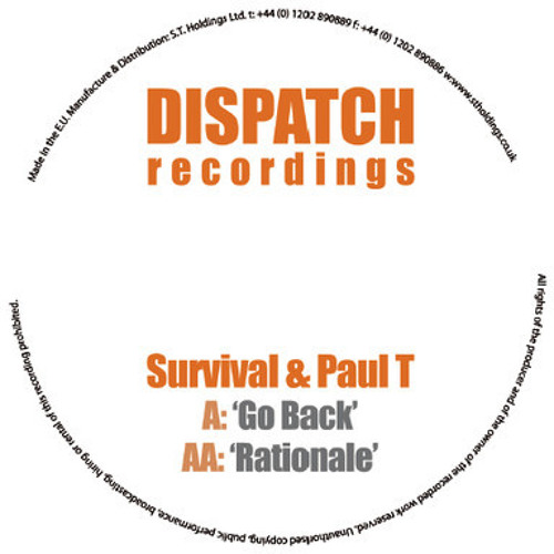 Paul T & Survival - Go Back - Dispatch Recordings -(Snippet)
