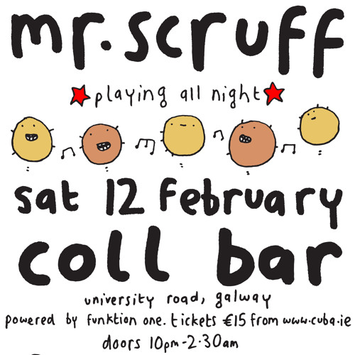 Mr Scruff live DJ mix from Galway, Friday 12th February 2011