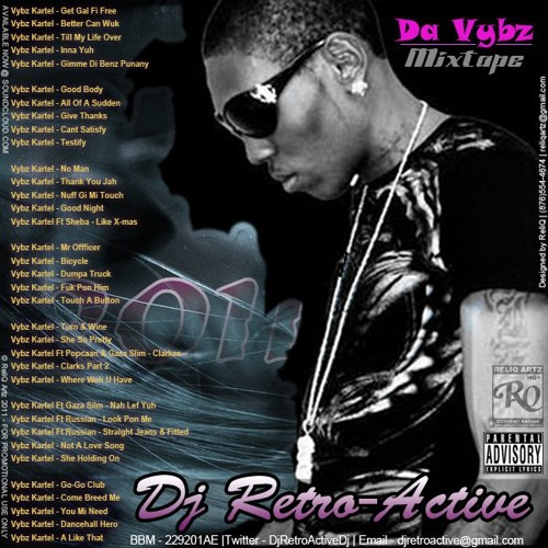 DJ RetroActive - Da Vybz Mixtape - February 2011 [35 Vybz Kartel Songs]