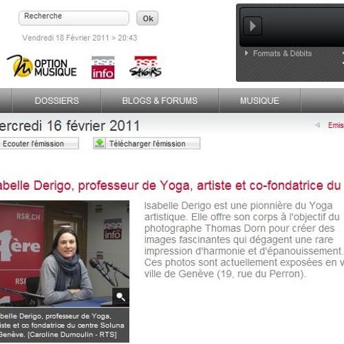 Isabelle Derigo Interview - Radio Suisse Romande Feb 2011