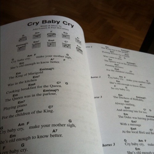 cry baby cry on Saturday morning