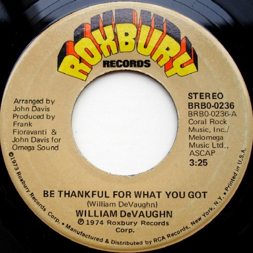 William DeVaughn Be Thankful For What You've Got... A 4AM Mix
