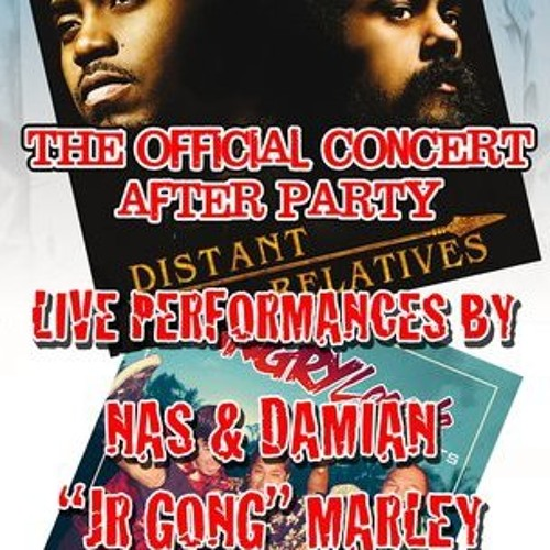 NAS and Damian Marley live!! The Distance Relatives Tour after party