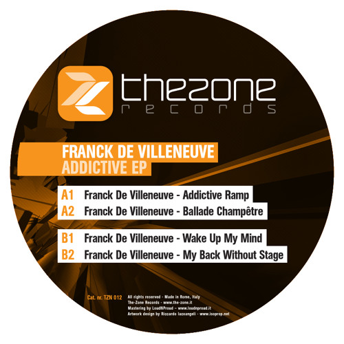 Franck de Villeneuve - Addictive Ramp - EXTRACT/PREVIEW - [The-Zone records]