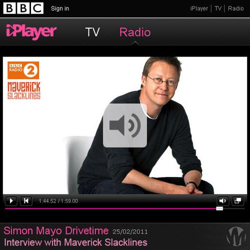 Radio 2 | Simon Mayo | Maverick Slacklines