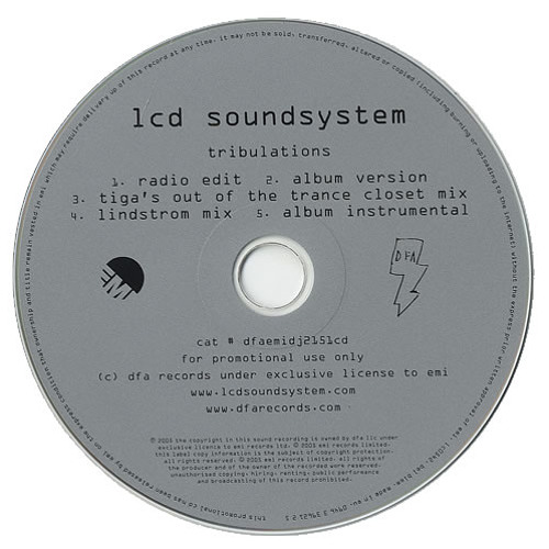 LCD Soundsystem - Tribulations (Tiga Remix)
