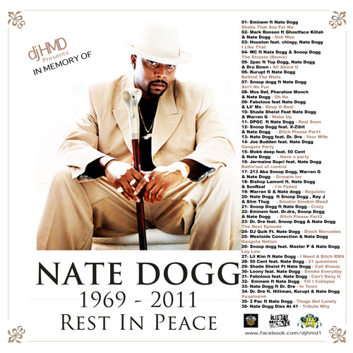"Dj HMD Presents IN MEMORY OF "" Nathaniel ""Nate Dogg"" Hale """