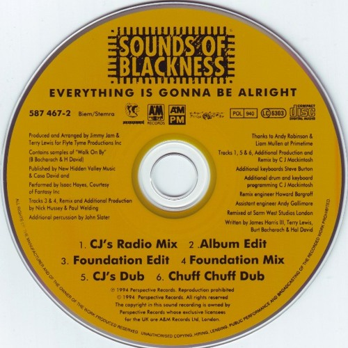 SOUNDS OF BLACKNESS - EVERYTHING'S GONNA BE ALRIGHT (CHUFF CHUFF DUB)