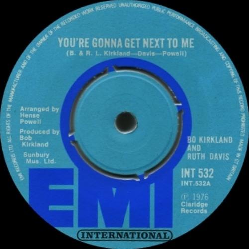 Bo Kirkland & Ruth Davis - Your Gonna Get Next To Me (DJ Sensus Remix)