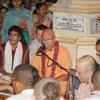Evening kirtan by BB Govinda Swami, Krishna Balaram Temple, Vrindavan