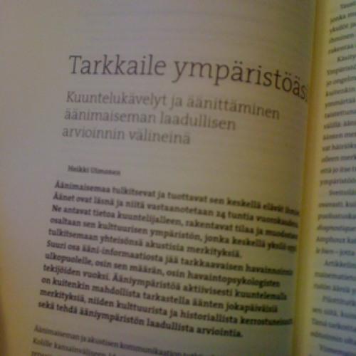 Ääniantropologinen äänimaisemakompetenssiharjoitelma at Turun Kaupunginkirjasto