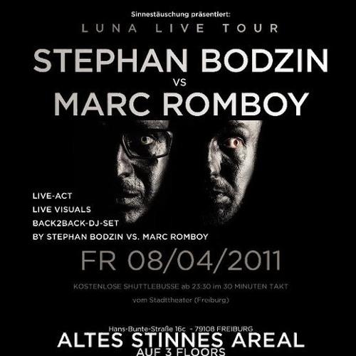 Stephan Bodzin & Marc Romboy - Luna DJ Set 08.04.11 - Sinnestäuschung im Stinnes Areal [Freiburg]