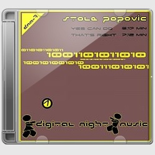 Stole Popovic-Yes can do E.P.(Digital Night Music) SUPPORT BY G.ANANDA, MASSIMO, J. SELWAY....