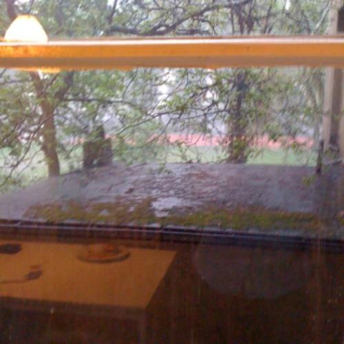 Summer rain <3 at Küche